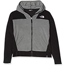The North Face G Glacier Fz HD Fleece Mixte Enfant, TNF Med Grey HR, FR (Taille Fabricant : XL)