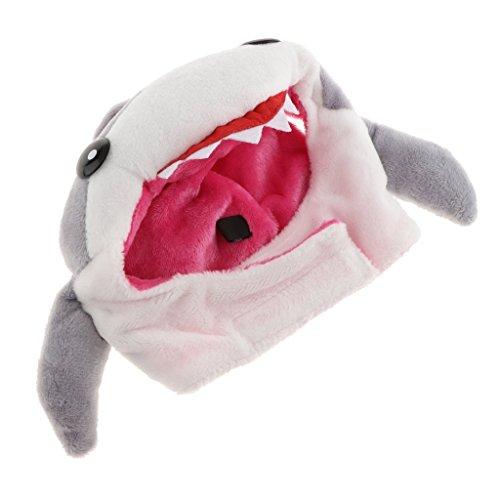 Homyl Hund Hut Plüsch Mütze Katze Welpe Haustier Cosplay Kostüm Zubehör - Hai