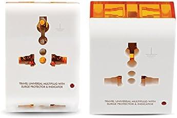 GM 3-Pin Universal Travel Multi-Plug (Pack of 2, White)