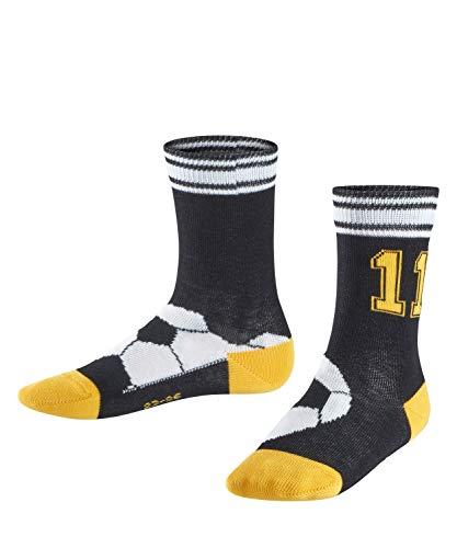 FALKE Jungen Soccer Socken, Black, 39-42