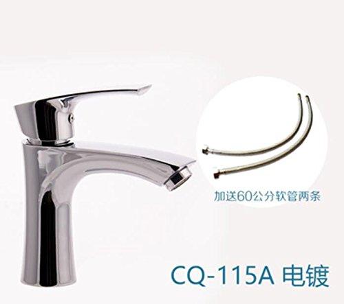 Decorry bacino rubinetto, il caldo e il freddo balcone, lavabo, bacino bacino bacino handwashing, elettrodomestico singolo foro singolo disco ceramico core flessibile di placcatura
