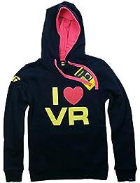 I Love para mujer MotoGP Valentino Rossi sudadera con capucha azul marino sudadera con capucha Azul azul marino Talla:XL