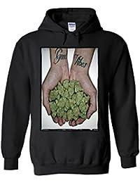 Good Vibes Weed Cannabis Drug High Novelty White Femme Homme Men Women Unisex Sweat à Capuche Hooded Sweatshirt Hoodie