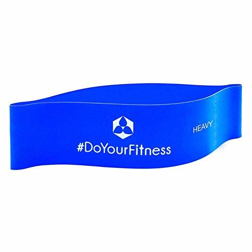 Cinta elástica »Achilles« / banda elástica resistencia loop para realizar fitness, crossfit, pilates, ejercicio, rehabilitación y fisioterapia / en 4 resistencias / azul (fuerte)