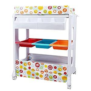 Folding Baby Changing Diaper Station Changing Table Change Strap Bathtub Storage Rack Newborn Nursery Dressing Table Massage Station   11