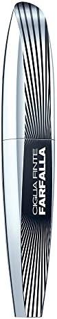 L'Oréal Paris MakeUp Mascara Ciglia Finte Farfalla, Effetto Volumizzante, Applicatore con Setole Asimmetri