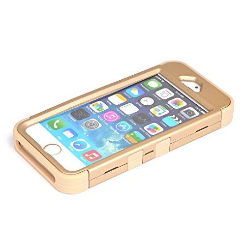 iPhone 5 5S hüll,iPhone SE hüll,Lantier verzierte Rhinestone KristallBling Elegante 3 in 1 Doppelschicht Schockfeste schroffe Verteidiger Abdeckung für Apple iPhone 5/5S/SE Rose Gold+Schwarz Cute Rhinestone Gold+Yellow