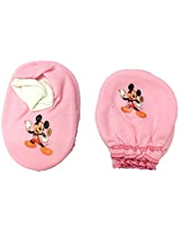 Platinum Baby Girl's and Baby Boy's Mitten Booty Set (0-6 months, Pink)