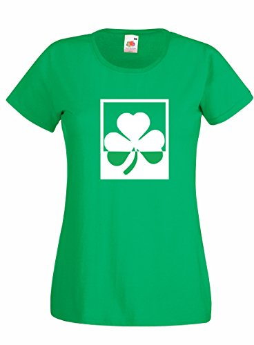 Settantallora - T-shirt Maglietta donna J1956 Shamrock Design Irish Rule Verde