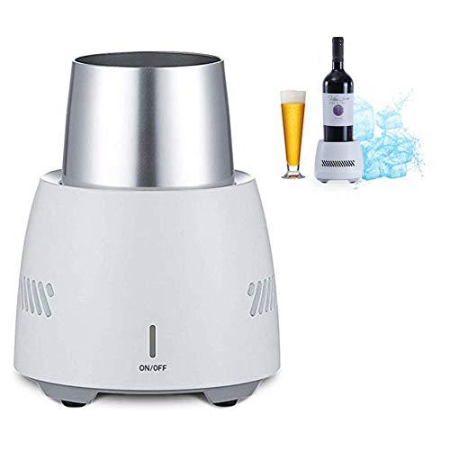 MFS portable Fast Cooling Cup, 2-in-1-Tischbierflasche Isolator Getränkekühlbecher für Bier, Cola, Saft, Wein und Getränke - Versunkenes Design und intelligente Kühlung -