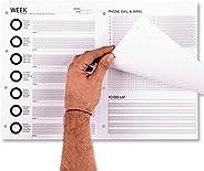 Planner Agenda Settimanale 2021 Mensile e giornaliera da Scrivania un grande A3 Pianificatore da Tavolo con ca