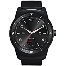 """LG G Watch R - Smartwatch Android (pantalla 1.3"""", 4 GB, 1.2 GHz, 512 MB RAM), negro"""