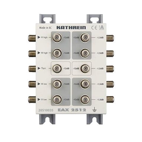 Kathrein EAX 2512 2-fach Sat-ZF-Abzweiger/-Verteiler für das Sat-ZF-Verteilsystem (1x terr. Eingang, 4x Sat-ZF (Sat Anlage Verteiler)