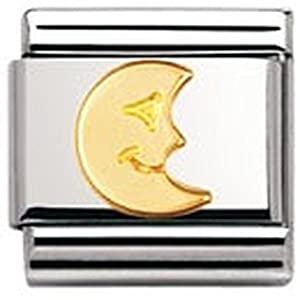 Nomination Composable Classic Fun Edelstahl und 18K-Gold (Mond) 030110
