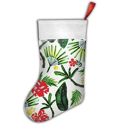 Havana Nights Christmas Hanging Stocking,Assorted Santa Gift Socks Hanging Accessories for Xmas Tree Decoration Only Printed One Side (Nights Havana Party)