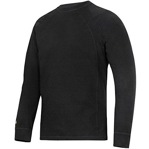 Snickers Langarm T-Shirt weiss Größe: S schwarz