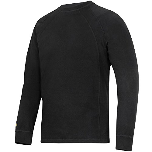Snickers Langarm T-Shirt schwarz Größe: XL (Herren Langarm-shirt Fleece)