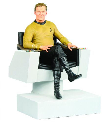 STAR TREK TOS - Statuette 1/6 James T. Kirk in Captain's Chair 26 cm