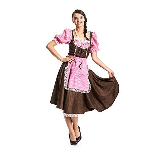 Kostümplanet® Dirndl Kostüm Damen günstig Trachten Verkleidung Karneval Oktoberfest (Kostüme Günstige Damen)