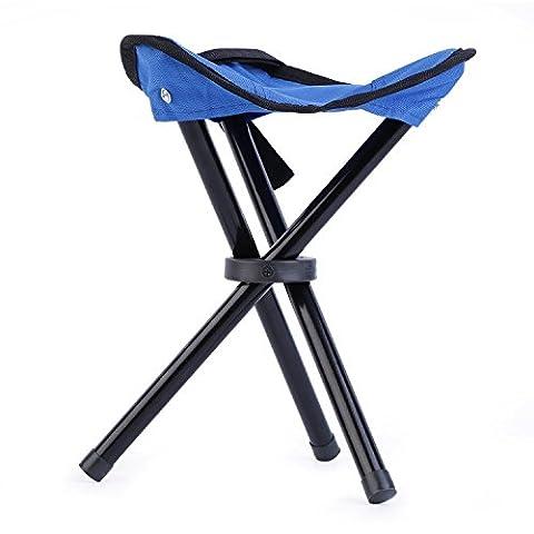 OUTAD Chaise Trépied Pliable et Mobile en Acier Pour Camping