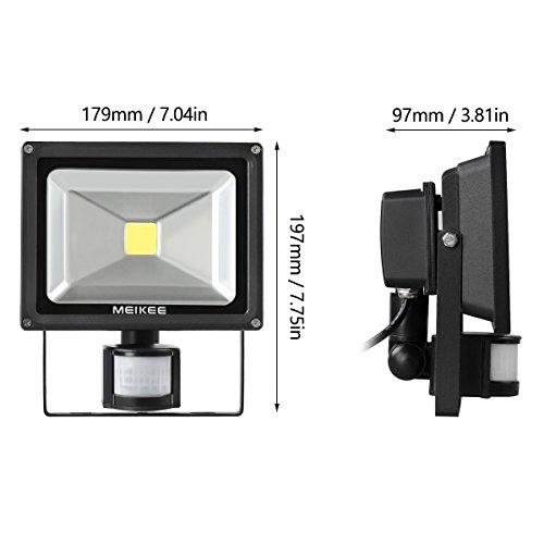 MEIKEE 20W Motion Sensor Light, Super Bright Outdoor LED Flood Lights, 1500  Lumen,