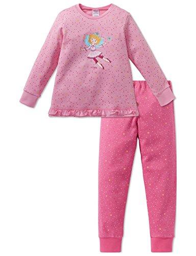 Schiesser Mädchen Zweiteiliger Schlafanzug Prinzessin Lillifee Md Anzug lang, Rot (Rosa 503), 104