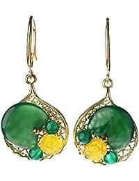 457ae4298853 MEEOI exageración de la moda Ear Stud Earrings Ear Hoop 925 de plata  esterlina para mujer