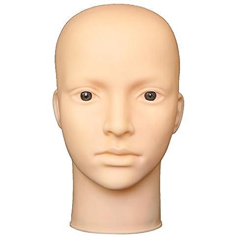 Vococal® Femelle Tête de Mannequin pour Maquillage Formation Massage,Soft Vinyl,Outil d'Affichage de Perruque Chapeau Lunettes