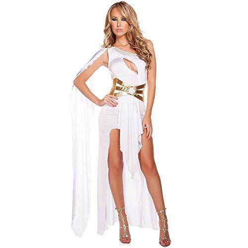 Griechische Katze Kostüm - Sexy Griechische GöTtin Kleid Halloween Halloween-KostüM One-Shoulder-Nachtclub Abendkleid