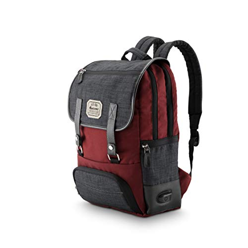Harissons Bags Dexter 18 Ltrs Maroon Casual Backpack with USB Charging Port and Laptop Compartment