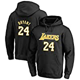 GRYUEN Homme Chandail à Capuche Sweatshirt NBA Lakers 24# Kobe Bryant Fan De Basketball T-Shirt Confortable
