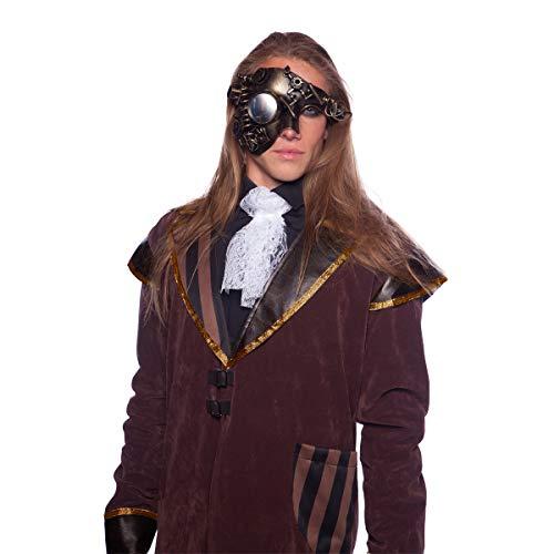 Preis am Stiel Steampunk Maske ''Gold Deluxe'' | Halloween Kostüm | Kostüm-Zubehör | Karnevalskostüm