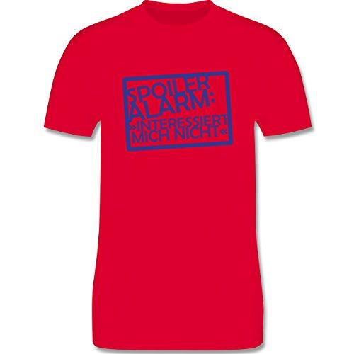 Sprüche - Spoiler-Alarm: Interessiert mich nicht - Herren Premium T-Shirt Rot