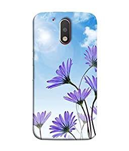 PrintVisa Designer Back Case Cover for Motorola Moto G4 :: Moto G (4th Gen) (Magical flowers in the grace of sunlight)