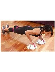 Fitness pour un bel et bien-être pour le corps-rotatif pour pompes Poignées Soft Grip &Base antidérapante Kelly Holmes