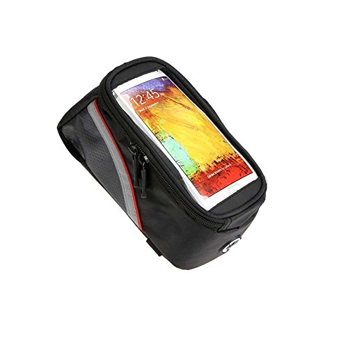 Everyday Desire Bicycle Top Tube Frame Cycling Pannier Bike Bag & Mobile Phone Screen Touch Holder