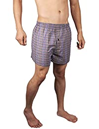 Neska Moda Men's Elasticated Cotton Multicolor Boxer With 1 Back Pocket-MP-XB5