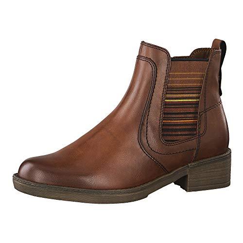 Tamaris Damen 1-1-25012-23 Chelsea Boots, Braun (Cognac 305), 38 EU