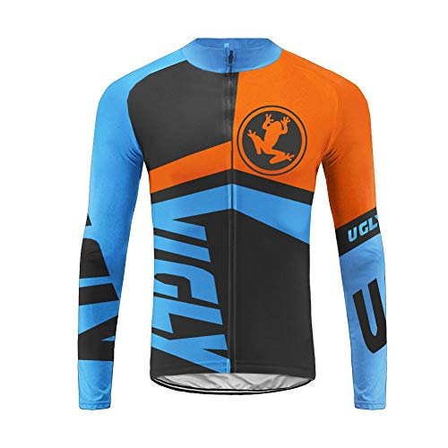Uglyfrog HWCX03 Winter Jersey Thermisches Fahrradtrikot Vlies Thermo Langarm Shirt Herren Breathable Radfahren Fahrrad Lange Hülsen Fahrrad Hemd Männer Langarm Fahrradbekleidung