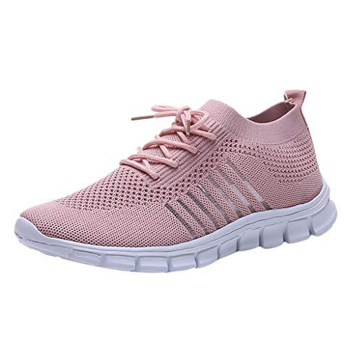 BaZhaHei Scarpe a Rete Sneakers Donna,Student Respirabile Scarpe Basse Sportivo Donne Leggere Scarpe da Corsa Casual Scarpe da Lavoro Running Fitness Shoes con Sportive All'aperto 35-43