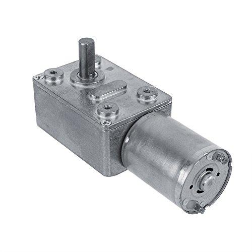 Preisvergleich Produktbild DC 12V Reversible Hochdrehmoment Turbo Schnecke Getriebe Gleichstrommotor Geschwindigkeitsreduzierung Elektromotor Total Metall 5/6/20/40/62 (U/MIN)(40RPM)