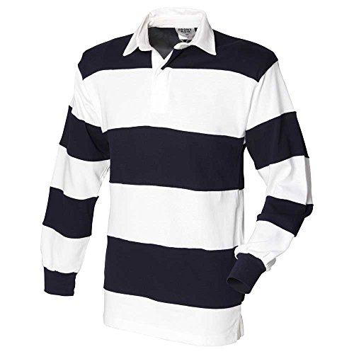 Front Row Mens Sewn stripe Long Sleeve rugby shirt -