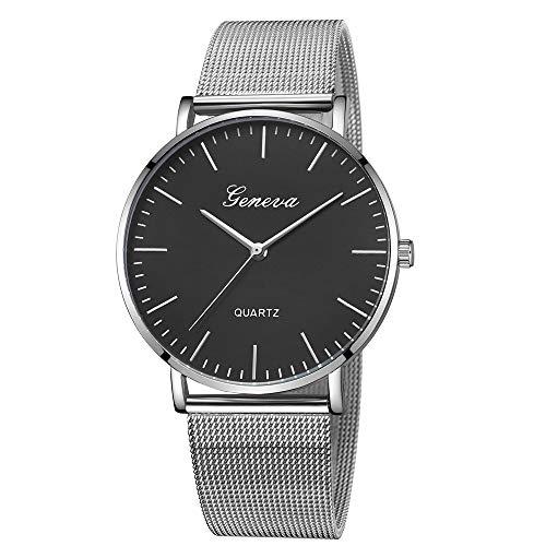Jia Meng Geneva Mesh Gürtel Damen Classic Quartz Edelstahl Armbanduhr Armband Uhren - Cashmere-falten Anzug