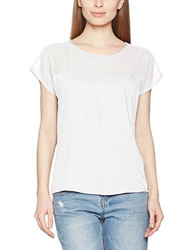 Vila Vimase Top, T-Shirt Femme Blanc (Snow White)