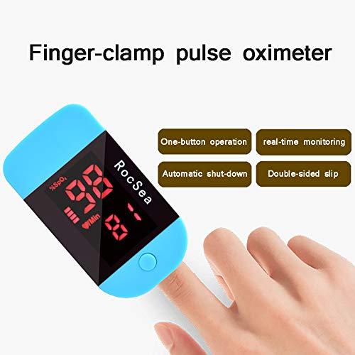 SUN RDPP Oximeter fingerspitzen-Finger-sättigungsdetektor zur Überwachung der herzfrequenz tragbar,Blau
