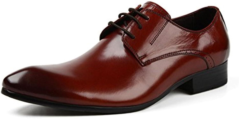 MHSXN Derby Schuhe Herren Schuhe Business Casual Schuhe Classic Black   Brown Schnürsenkel Soft Bottom