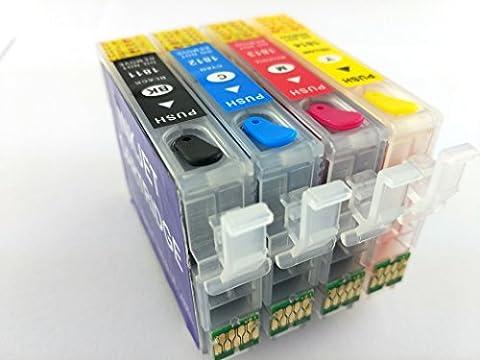 Hemei@ 18XL T1816 Cartouche d'encre rechargeable pour imprimante Epson XP-415 XP-412 XP-315 XP-312 XP- 212 XP-215 XP-325 XP-322 XP-425 XP-422 XP-225