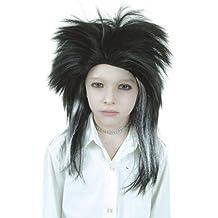 Cesar D139 peluca negra y blanca Billy Tokio Hotel, para adulto
