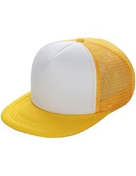Tongshi Sombrero Casual Unisex Solid Gorra de béisbol del camionero de malla Visor en blanco ajustable del sombrero