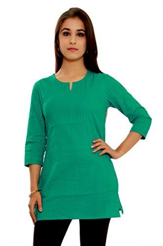 Alobha kurtis for women Cotton Green short Kurta
